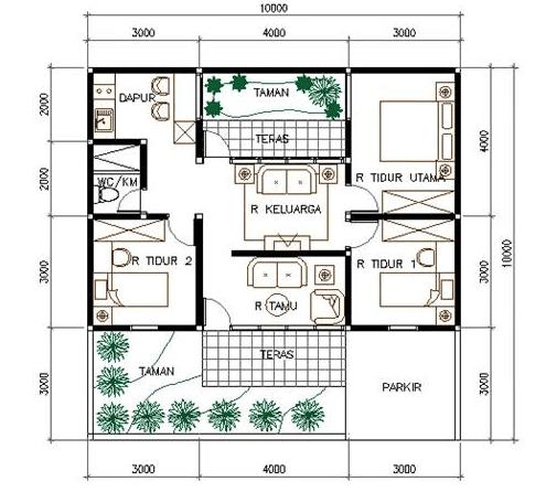 17 desain rumah minimalis modern 3 kamar tidur paling