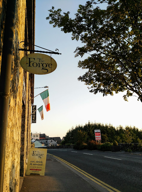 the Forge, Moycullen, Irish flags