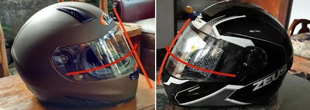 flat visor vs non flat visor