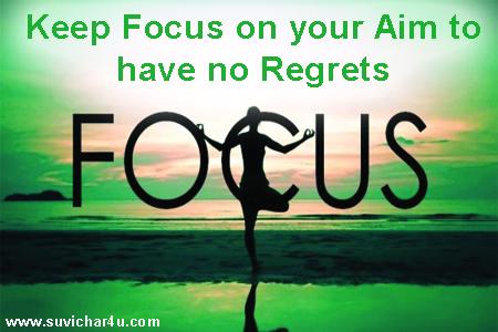 Focus on your aim