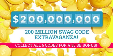 Image: The 200 Million Swag Code Extravaganza begins on Wednesday September, 20th