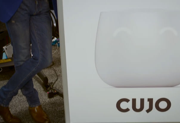 CUJO connects to your wireless router with an ethernet cable