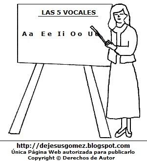 Dibujo de mujer con trabajo de profesora para colorear, pintar e imprimir. Dibujo de mujer hecho por Jesus Gómez