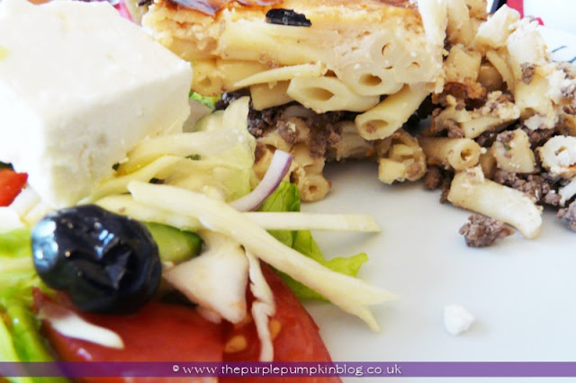 Greek Cypriot Macaroni Pie for an #Olympics Party at The Purple Pumpkin Blog