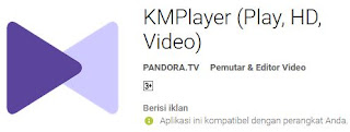 aplikasi pemutar video terbaik android, km player