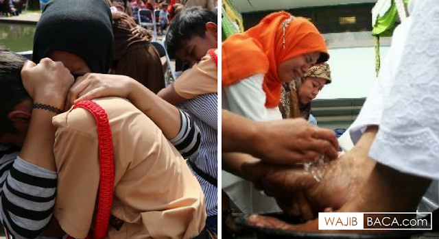 Ribuan Ibu dan Anak Mengucurkan Air Mata di Jakarta, Ada Apa?