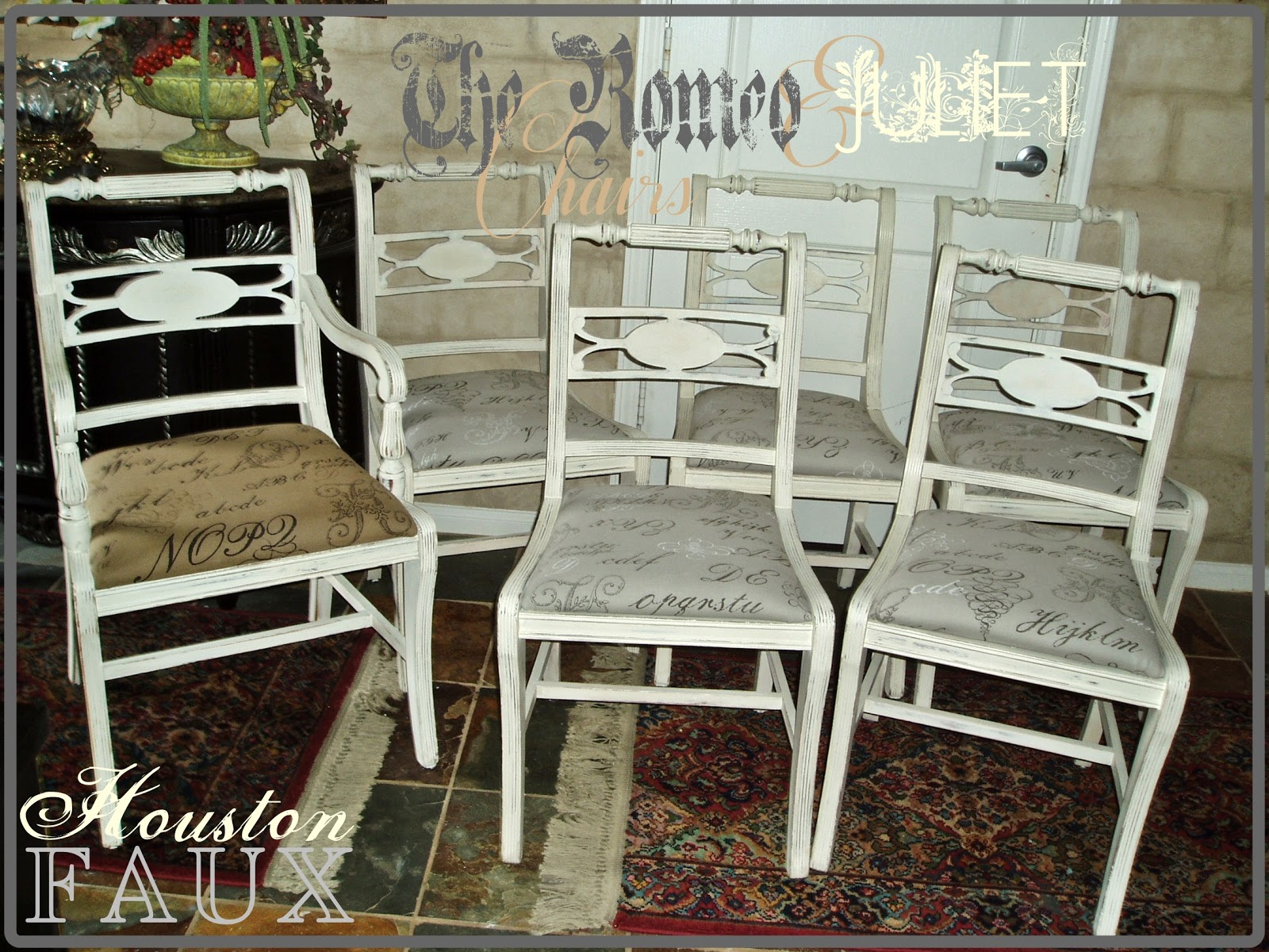 Faux Painting Furniture Romeo Juliet Chairs Shabby Chic
