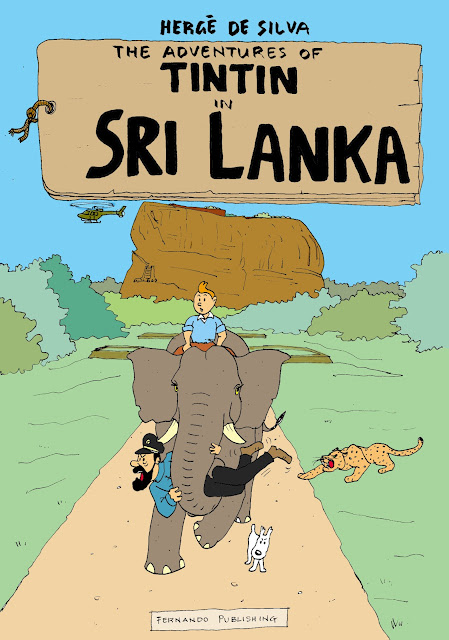 Tintin in Sri Lanka cartoon