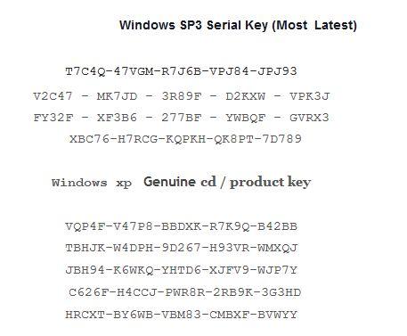 Latest Free Windows Xp Professional Product key - Crack ...