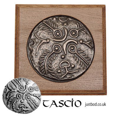 Tascio - Ancient British Celtic Coin wall plaque by Justbod