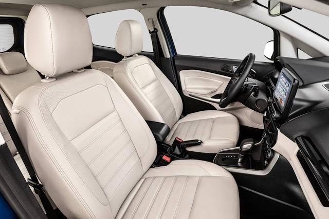 Novo Ford EcoSport 2018 - espaço interno