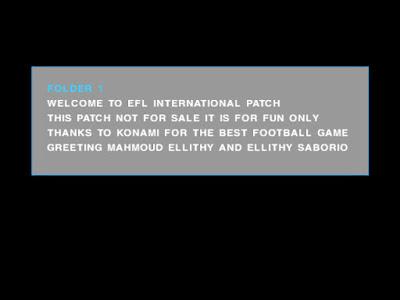 PES 6 EFL International Patch Season 2016/2017