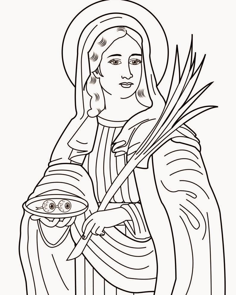 Disegni Di Santa Lucia Da Colorare