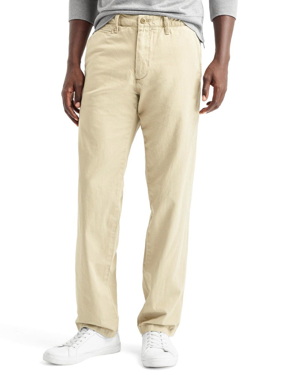 Vintage washed straight fit khakis 03