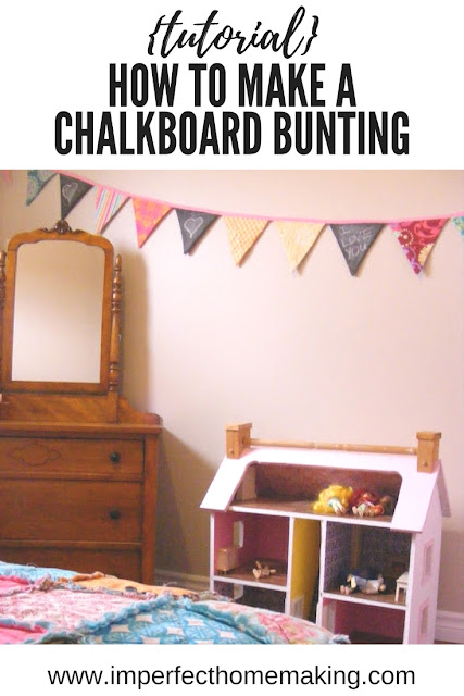 Sew your own chalkboard bunting // tutorial // super cute DIY decor