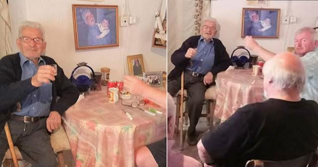 103χρονος Κρητικός πίνει ακόμη ρακές και μας λέει το μυστικό της μακροζωίας