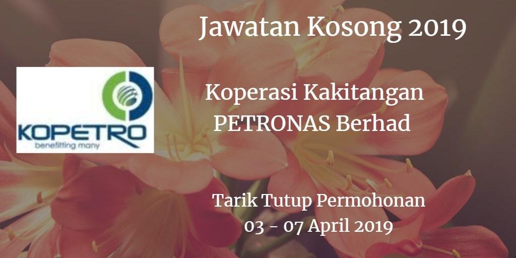 Jawatan Kosong KOPETRO 03 - 07 April 2019
