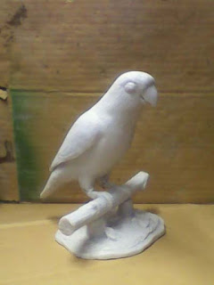 patung lovebird fiberglass