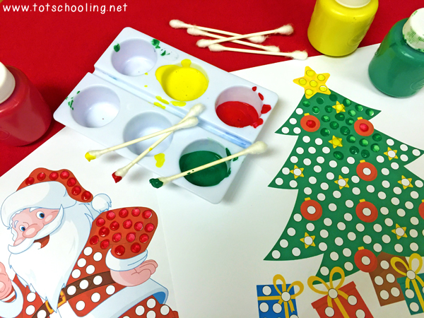 photo about Q Tip Painting Printable titled Xmas Q-Suggestion Portray Printables Totschooling - Baby