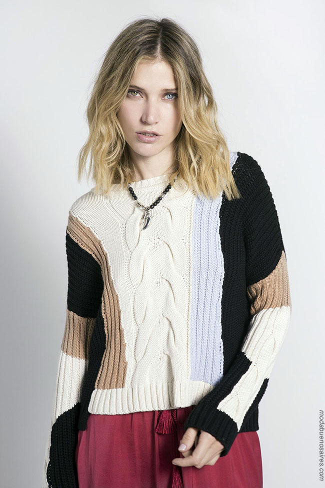 Moda tejidos invierno 2018. Ropa de mujer Argentina.