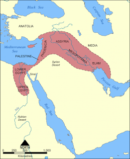 Map of Fertile Crescent, public domain.