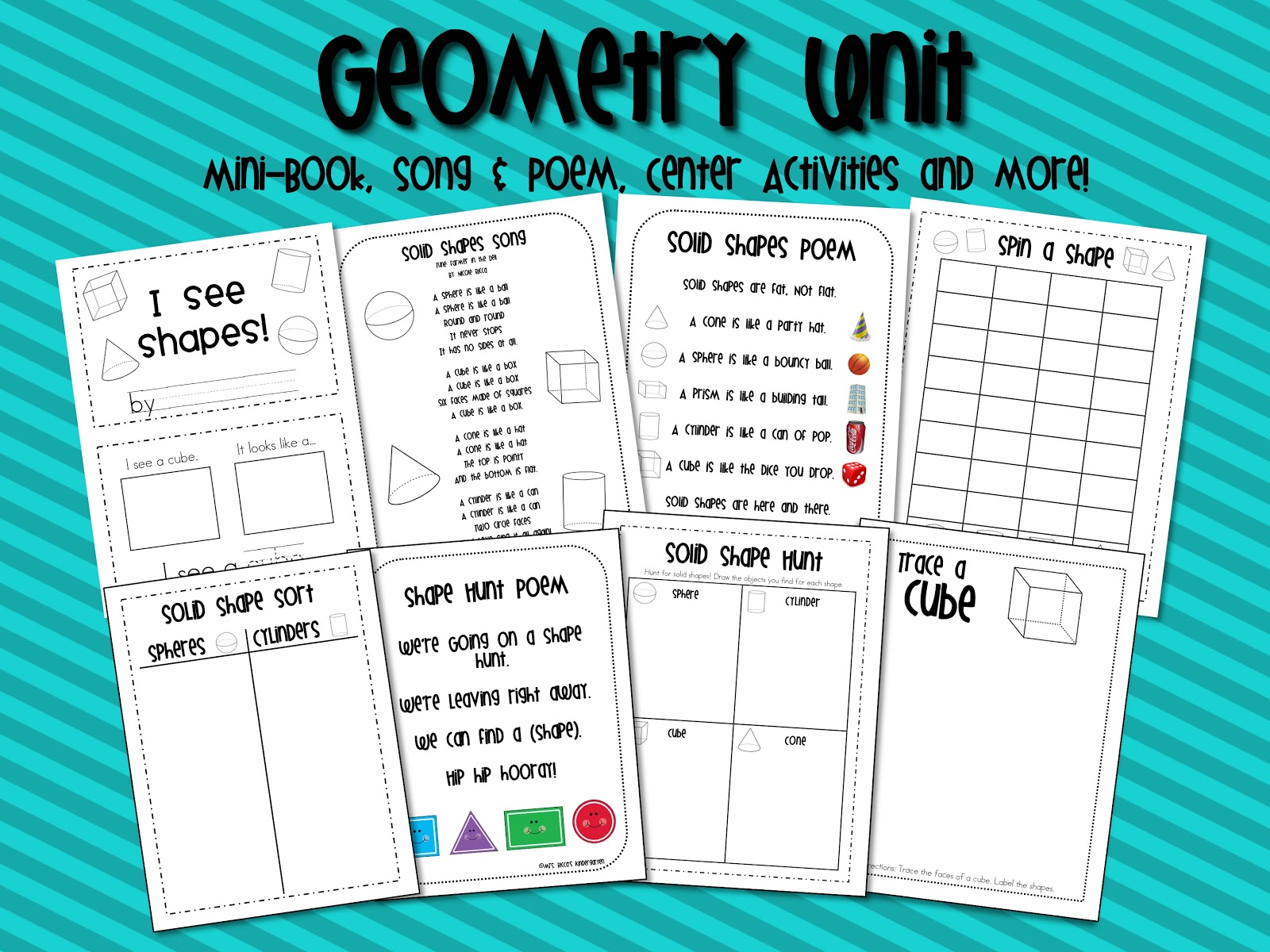 Mrs Ricca S Kindergarten Solid Shapes Geometry Unit Amp Freebie