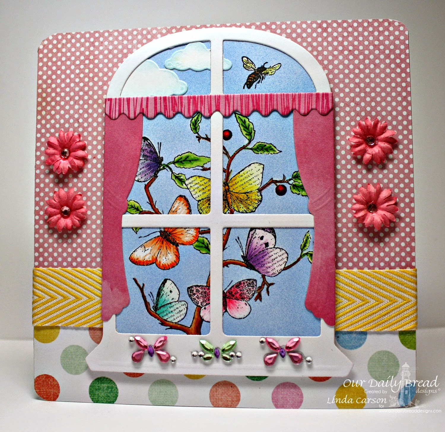 ODBD, Window die, Faith stamps, designer Linda Carson