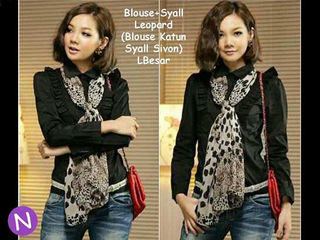 Jual Blouse Blouse Leopard Syall - 12668