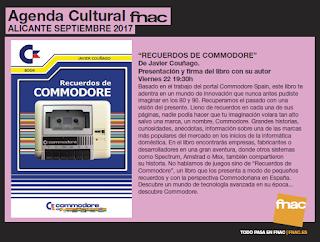 """Presentación del libro """"Recuerdos de Commodore"""" en FNAC"""