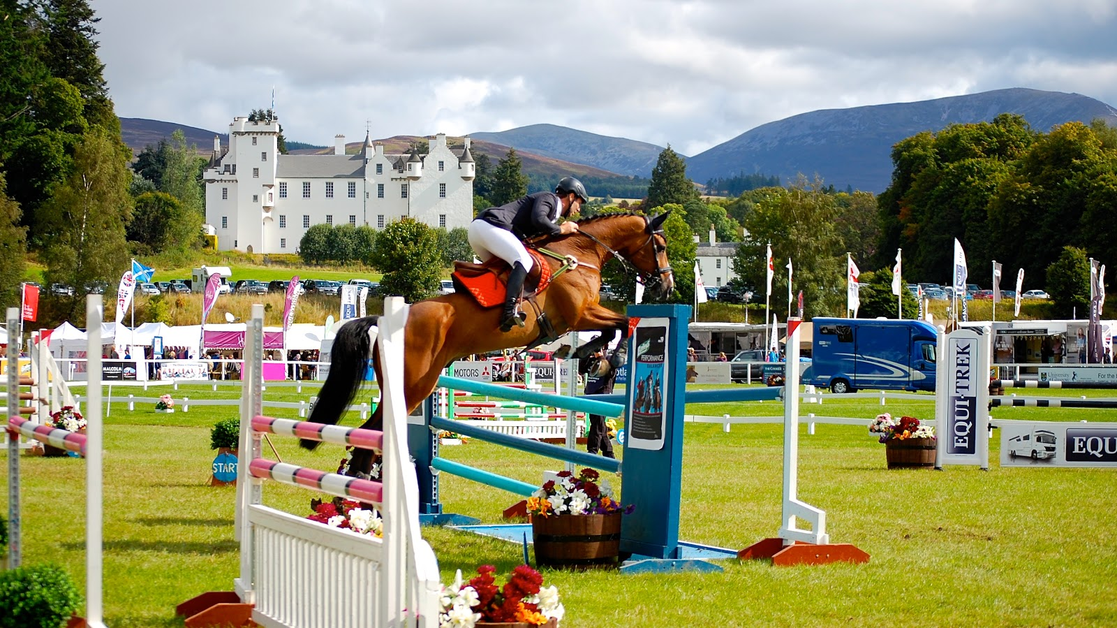 Horse jumping at the Blair Castle International Horse Trials