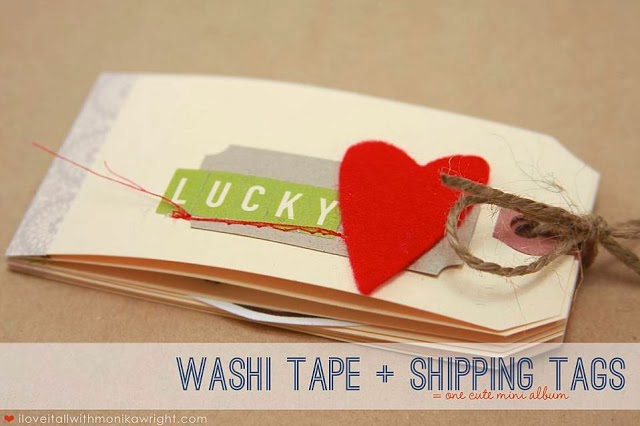 #washitape #minialbum #minibook #tutorial #diy #scrapbooking #tags #love #heart