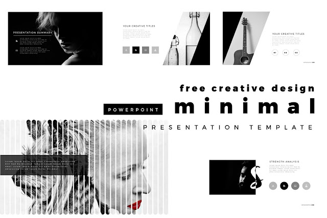 Free Minimal PowerPoint template  Cover Slides