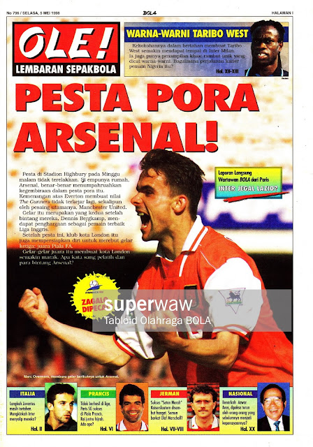 MARC OVERMARS ARSENAL 1998