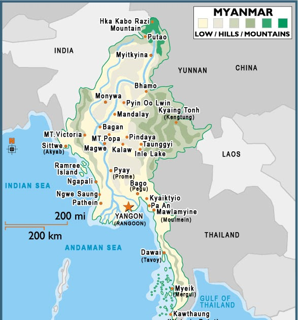 Are asian cooperation in myanmar regional