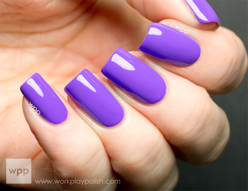 Nicole by OPI (NOPI) Neon Purple from the Scandalous! NEONS Collection