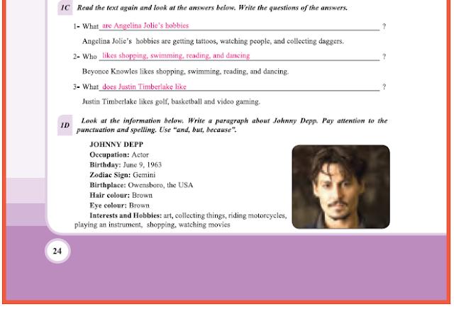 9. Sınıf Yıldırım Yayınları İngilizce A1.2 Ders Kitabı 24. Sayfa Cevapları Theme 2 Personality and Character