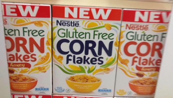 Nestlé gluten free Corn Flakes and Honey Corn Flakes