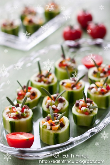 these delicious and fresh cucumber bites are a simple appetizer