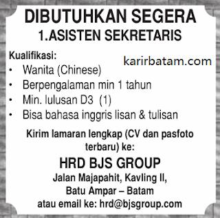 Lowongan Kerja PT. BJS Group Indonesia