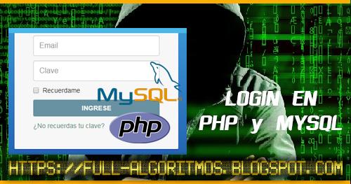 LOGIN EN PHP y MYSQL CON CPANEL