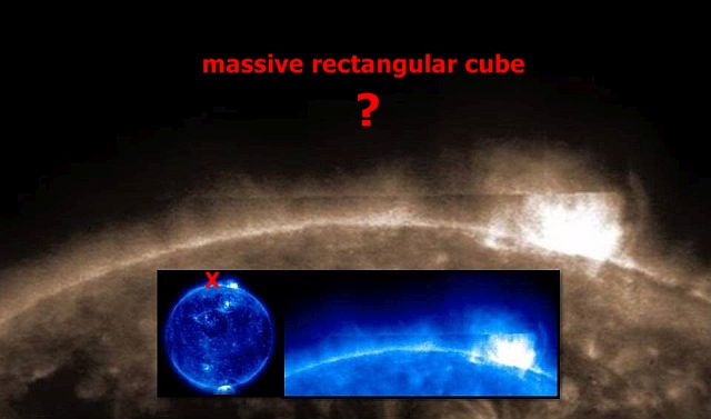 Giant Mysterious Rectangular Anomaly Emerges From Sun  Anomaly%2Bufo%2Bsun%2Bnasa%2B%25281%2529