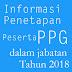 Informasi Penetapan Peserta PPG dalam Jabatan Tahun 2018