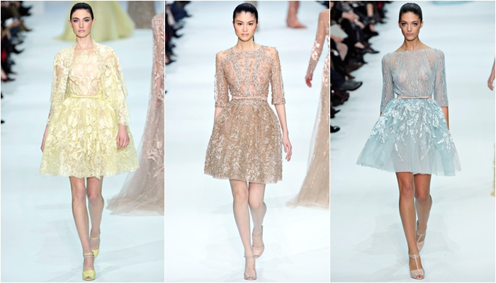 Haute Couture spring 2012 Elie Saab short ladylike dresses