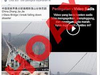 Hoax Jembatan Kaca di Cina Jatuh Membawa Bencana