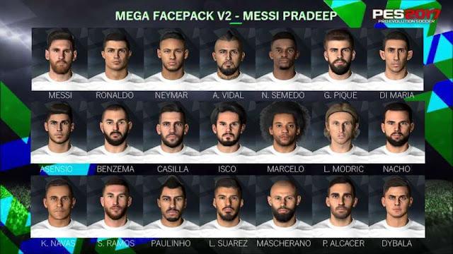 Mega Facepack PES 2017