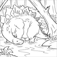 Stegosaurus Dinosaur Coloring Pages