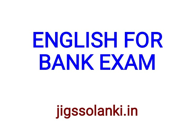 ENGLISH LANGUAGE MATERIAL FOR BANK EXAM