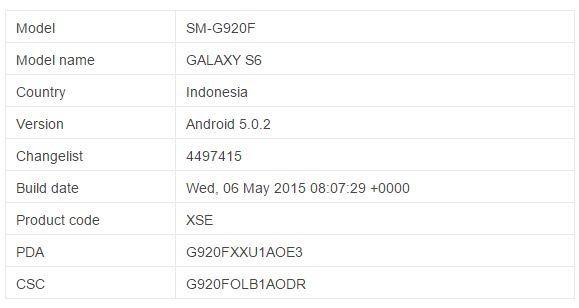 Firmware Samsung S6
