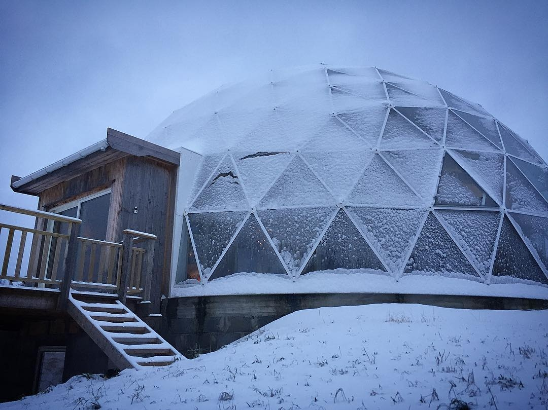 13-Hjertefølgers-Architecture with a Cob House built in a Geodesic Dome in the Arctic Circle