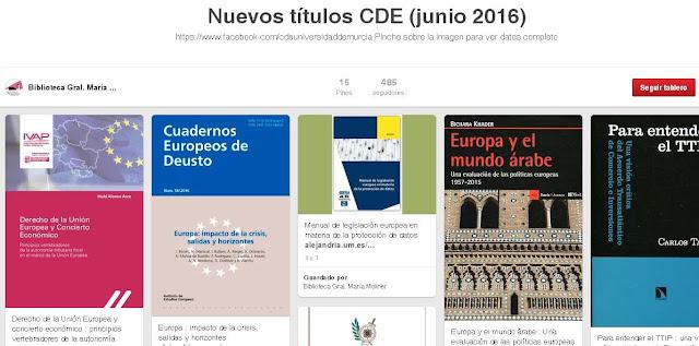 Nuevos títulos CDE (junio 2016)